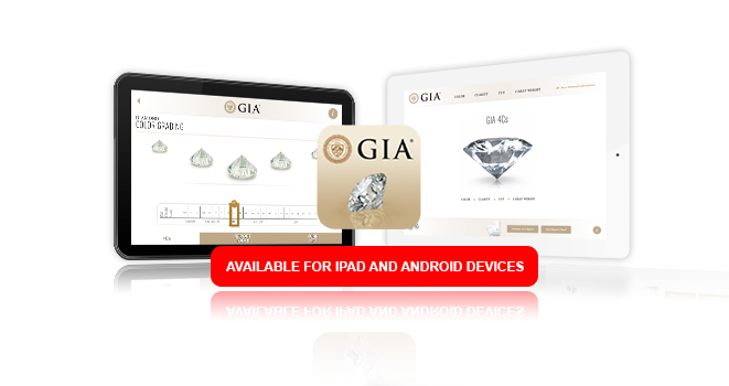 Two screens of the GIA iPad App